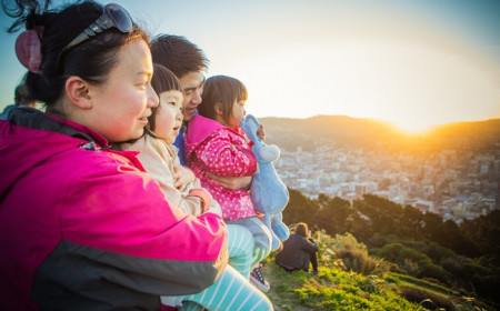Chinese tourists at Mt Vic