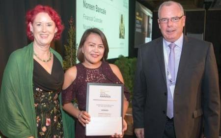 2017 Hotel Industry Awards Sally Attfield Noreen Bancale and Stephen Hamilton