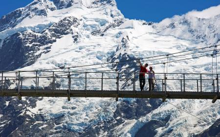 Bridge Swingers Aoraki Mt Cook National Park by Graham MacDonald The Hermitage