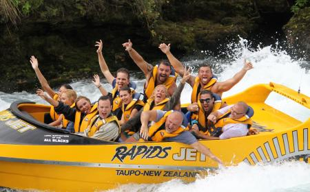 Riding the Waves Nga Awa Purua Waikato River Garry Stephen Rapids Jet